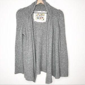 Tokyo Map Ladies Choice Gray Wool Blend Cardigan